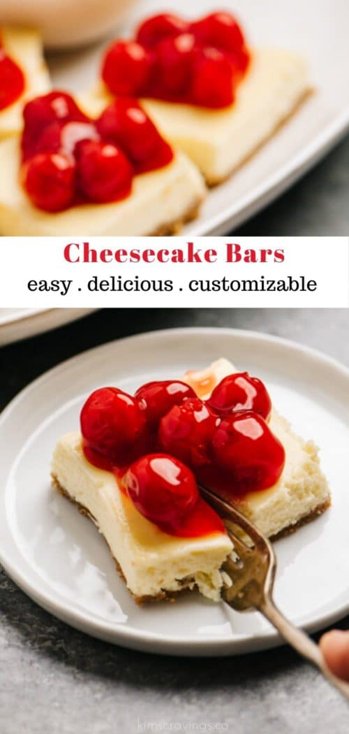 how to make cheesecake bars topped with cherries