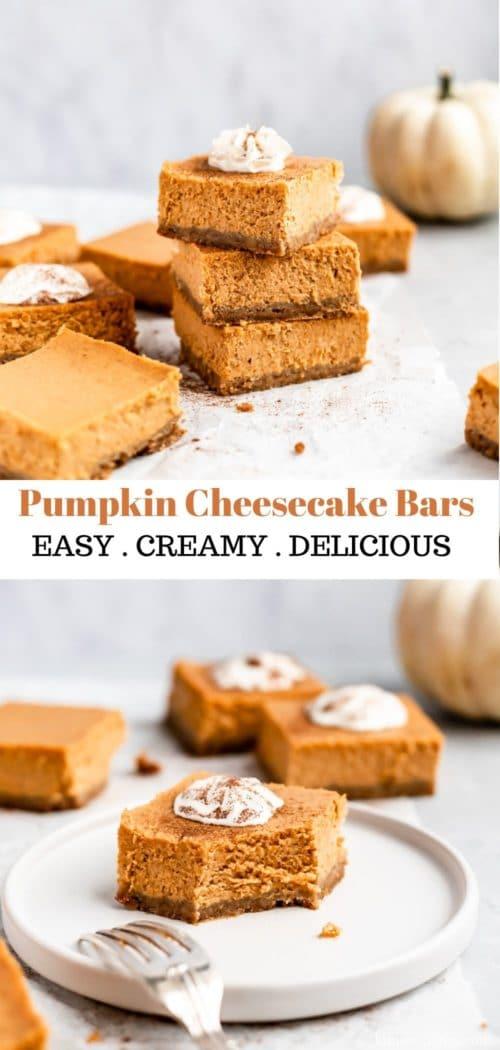 how to make pumpkin cheesecake bars