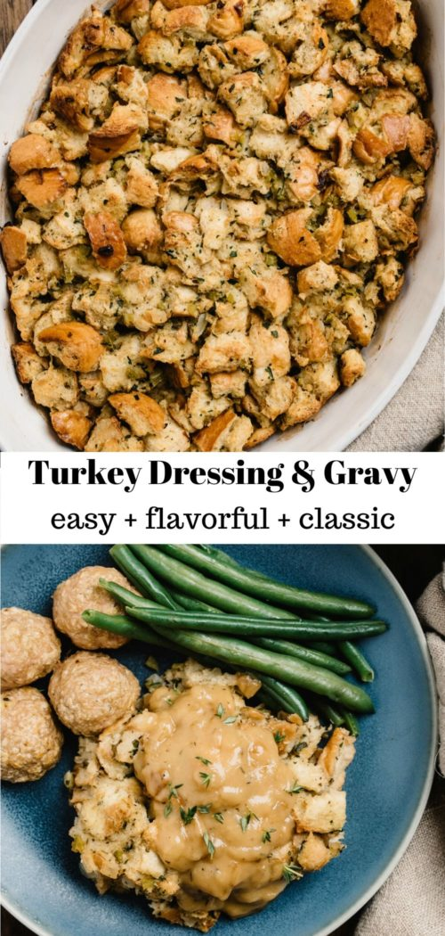 turkey dressing served with gravy