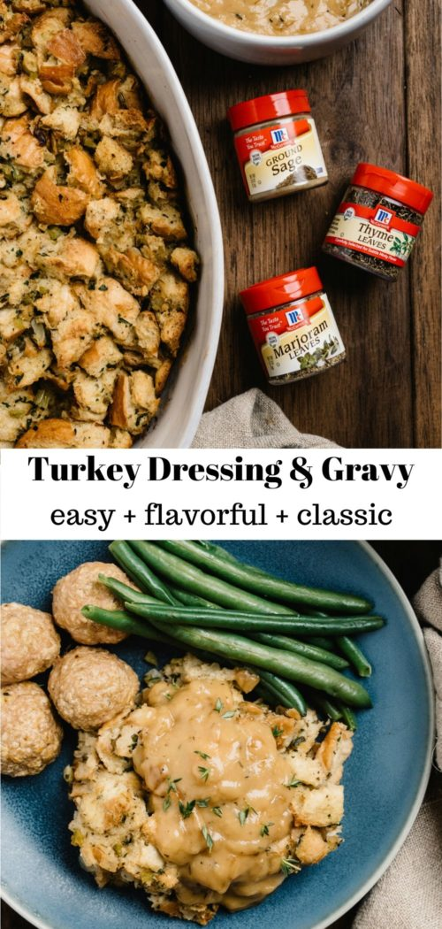 how to make Thanksgiving turkey stuffing and gravy