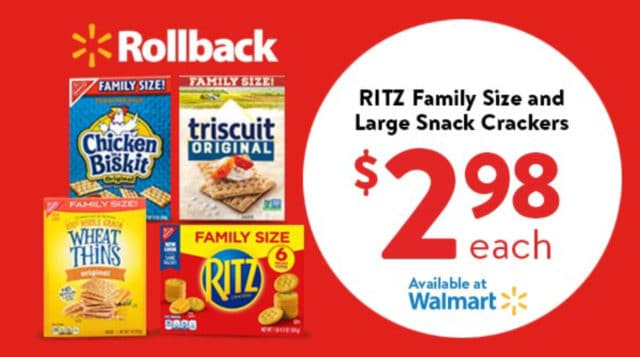 ad for a Ritz Crackers at Walmart