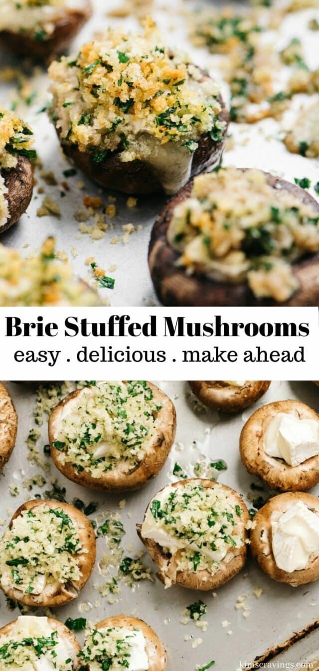 steps to make brie stuffed mushrooms