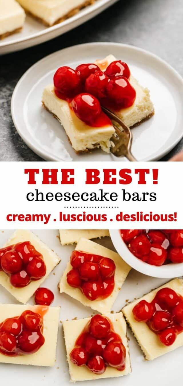 making easy cherry cheesecake bars