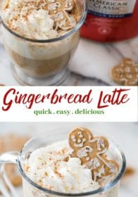how to make a homemade gingerbread latte from scratch