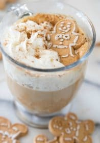 recipe for a homemade gingerbread latte