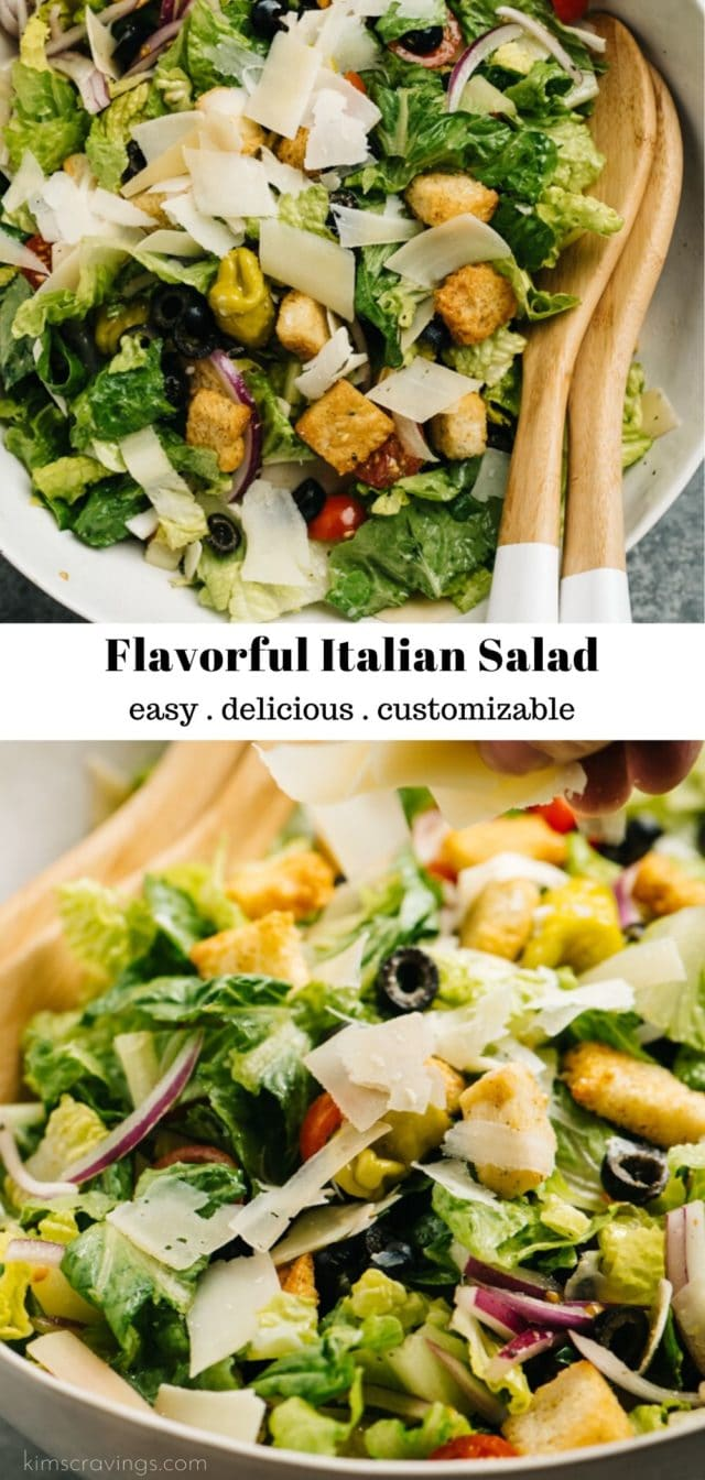 how to make an authentic Italian salad