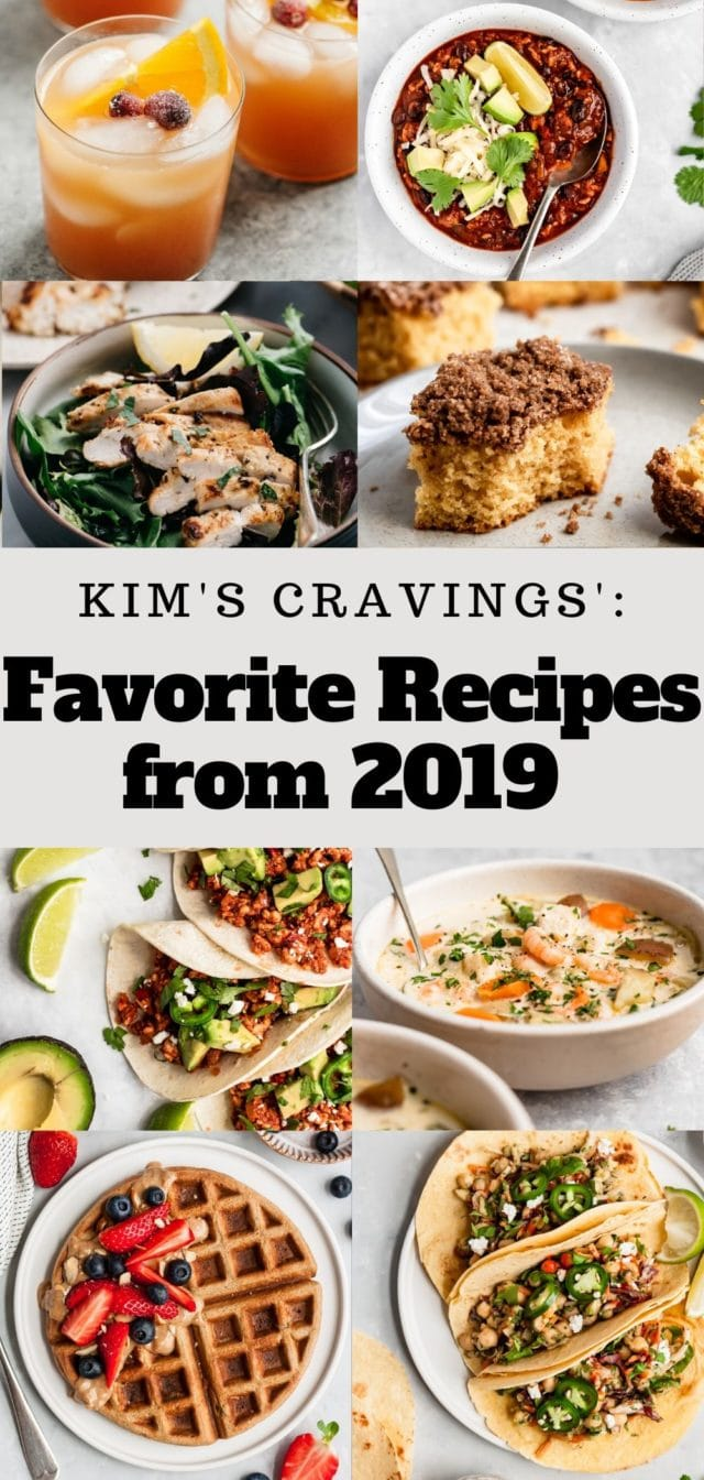 collage of 2019 favorite recipes