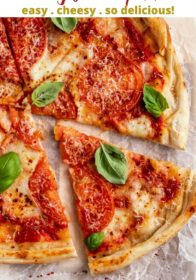 Margherita Pizza Recipe with homemade pizza dough