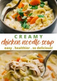 how to make homemade creamy chicken noodle soup