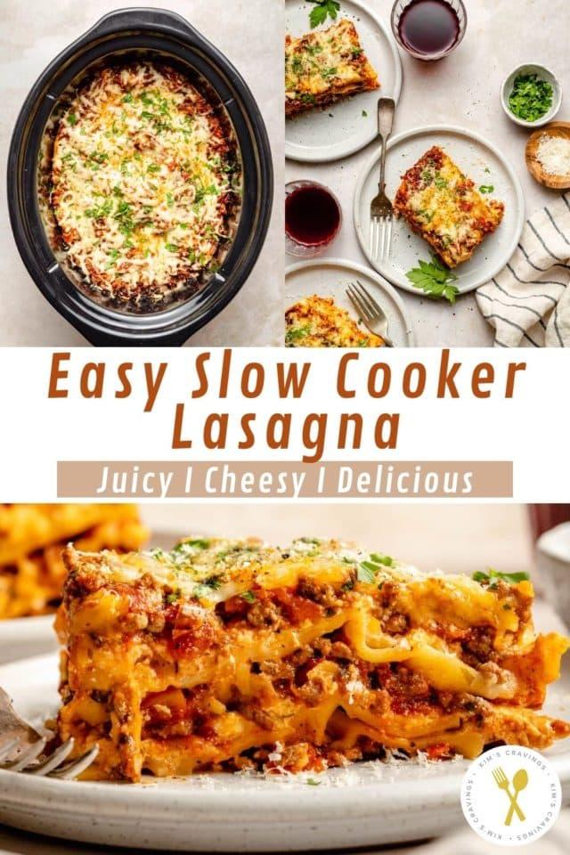 assembling crockpot lasagna