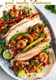 instructions for making shrimp fajitas