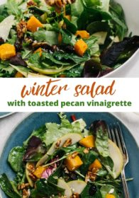 how to make a winter salad with butternut squash