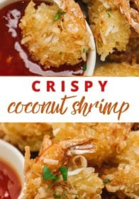 making shrimp coated with Panko breadcrumbs and coconut