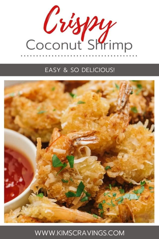 crispy coconut shrimp served with sweet chili sauce