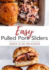 making easy pulled pork sliders
