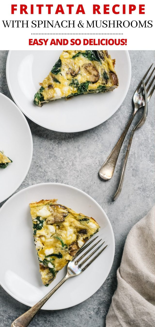 How to Make a Frittata with spinach and mushroom