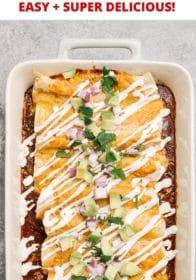 instructions for make an easy enchiladas recipe