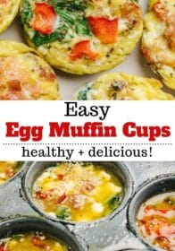 how to make healthy egg muffin cups