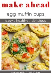 egg muffin cups on a plate