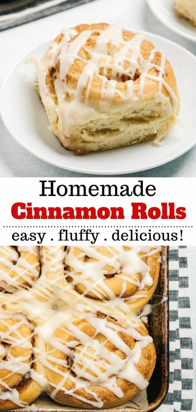 Soft and Fluffy Homemade Cinnamon Rolls