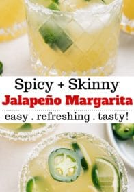 Jalapeño Margarita is a skinny margarita that has a kick of heat!