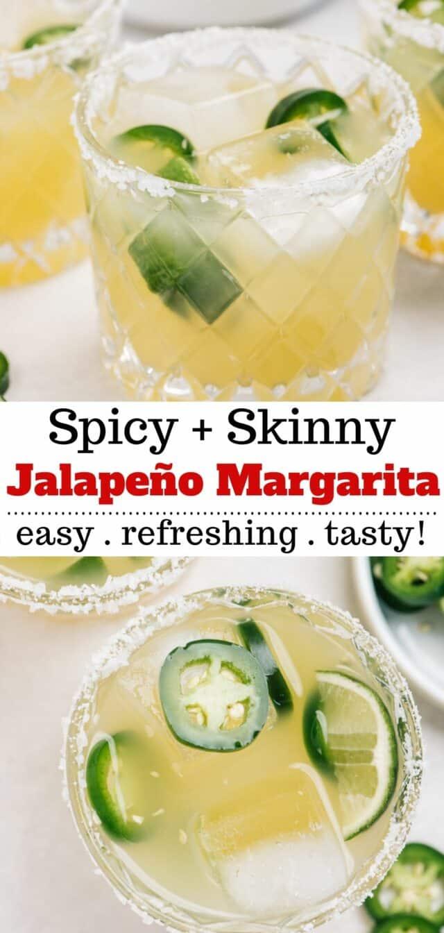 Jalapeño Margarita is a skinny margarita that has a kick of heat!