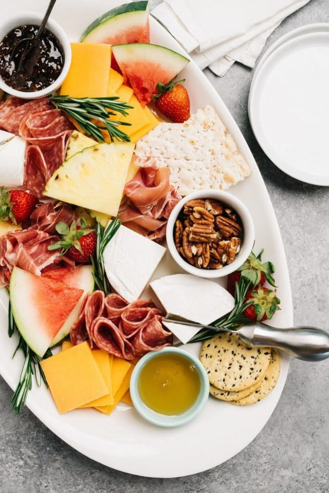 Tips & ideas for how to build the ultimate summer charcuterie board!