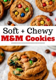 how to make chewy M&M cookies