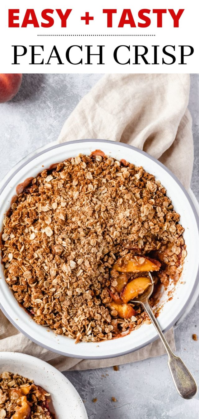 easy peach crisp recipe