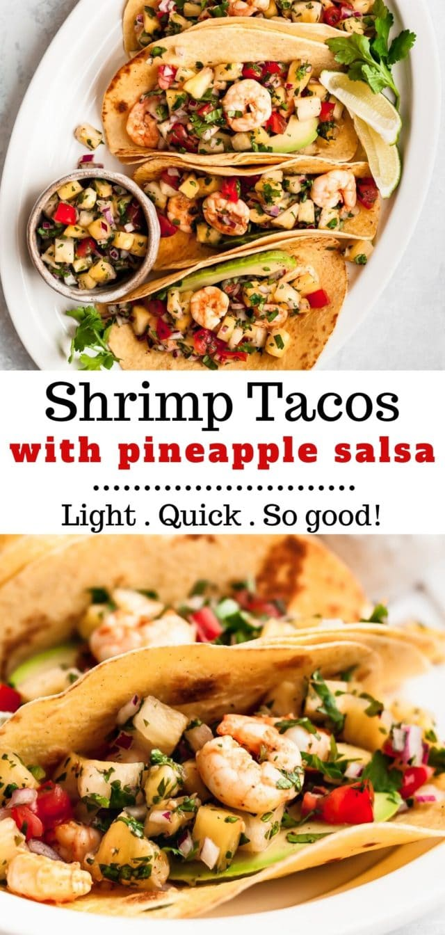 how to make shrimp tacos with pineapple salsa