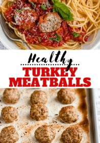how to make healthy turkey meatballs