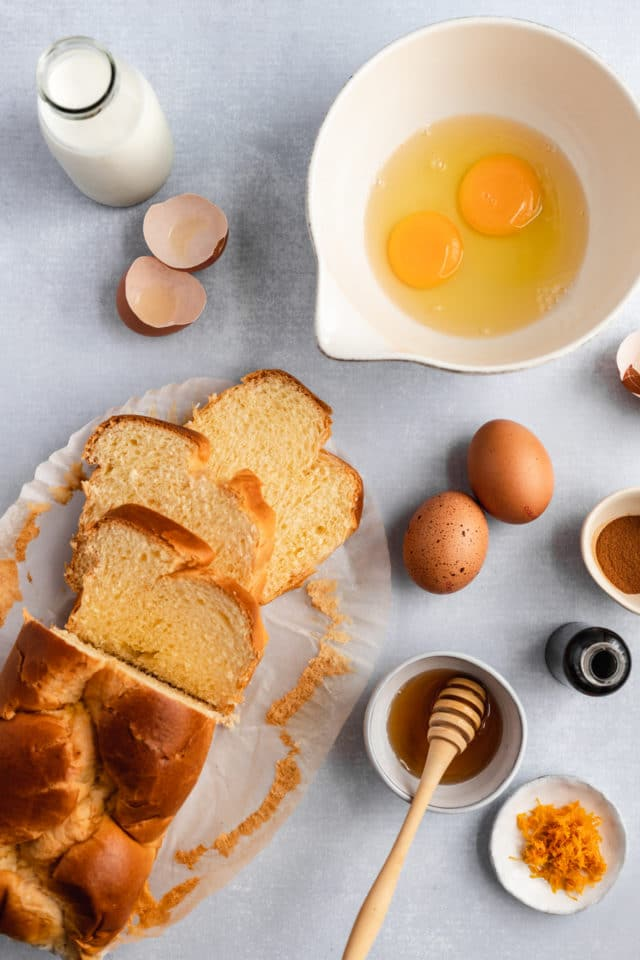 ingredients for brioche French toast