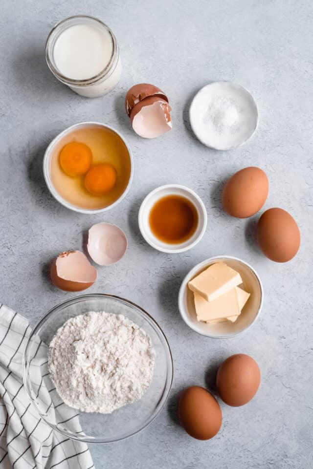 ingredients needed for Dutch Baby Pancake or sometimes called German pancakes