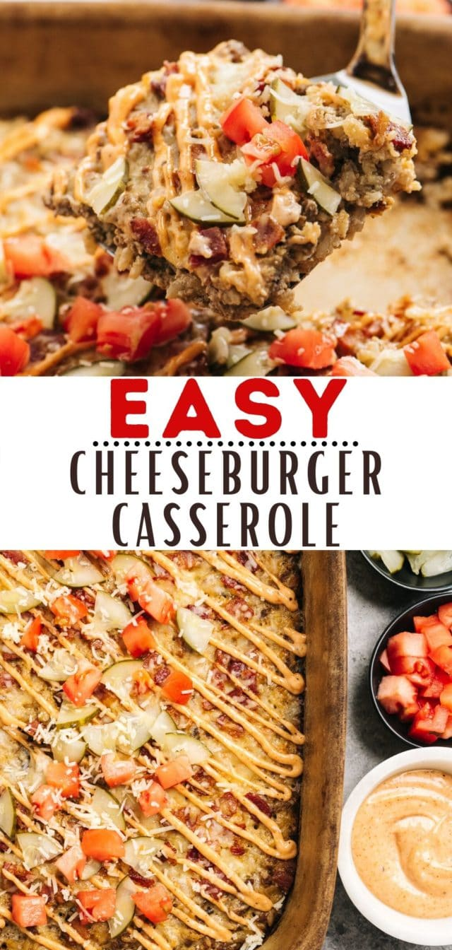 how to make an easy cheeseburger casserole with rice and bacon