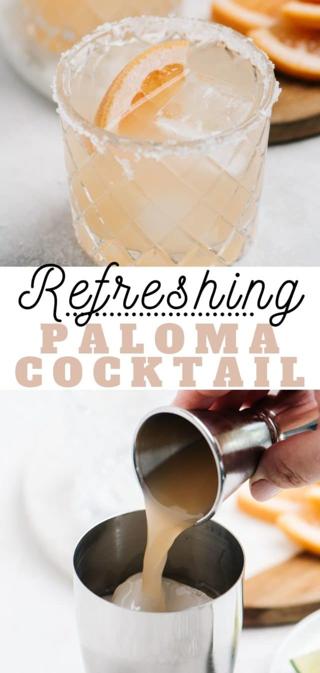 how to make an easy Paloma Cocktail