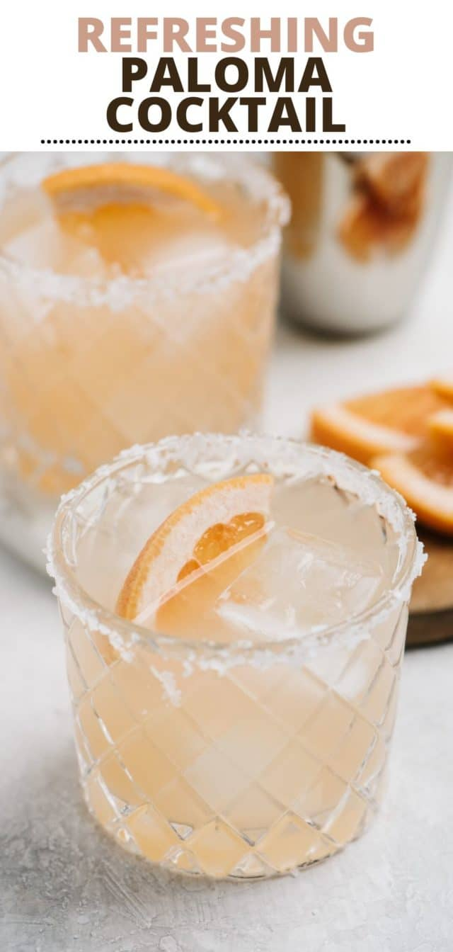 Paloma Cocktail Recipe - Super refreshing and so easy!