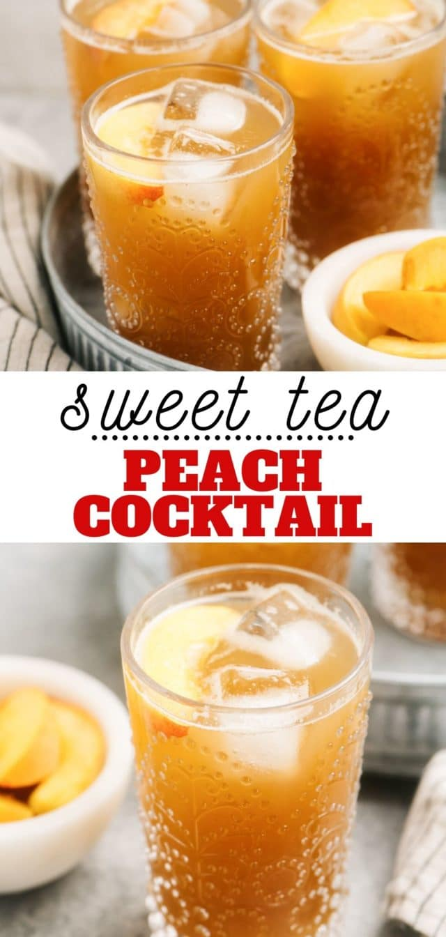 how to make a sweet tea peach cocktail