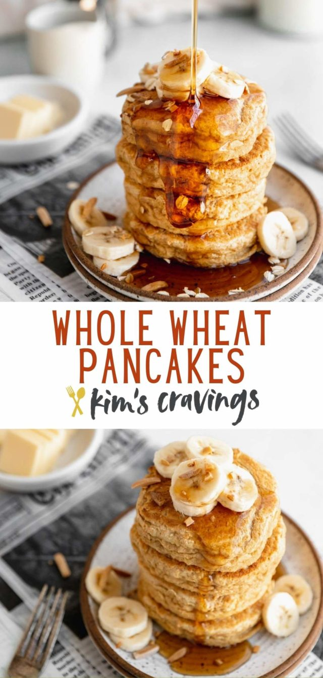 Light and Fluffy Whole Wheat Pancakes