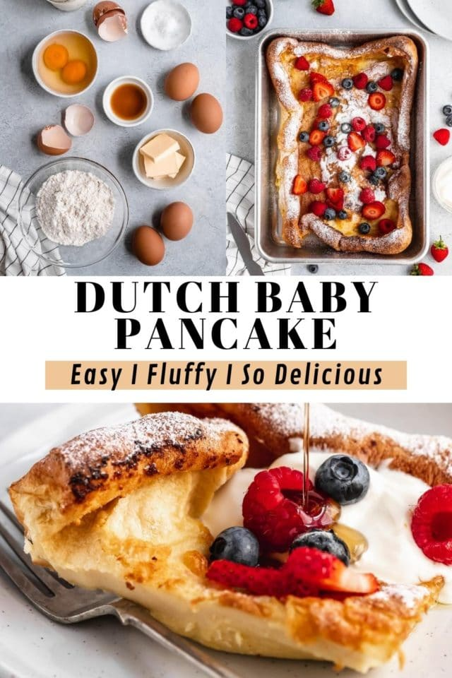 steps for making a Dutch Baby Pancake (aka German Pancakes)