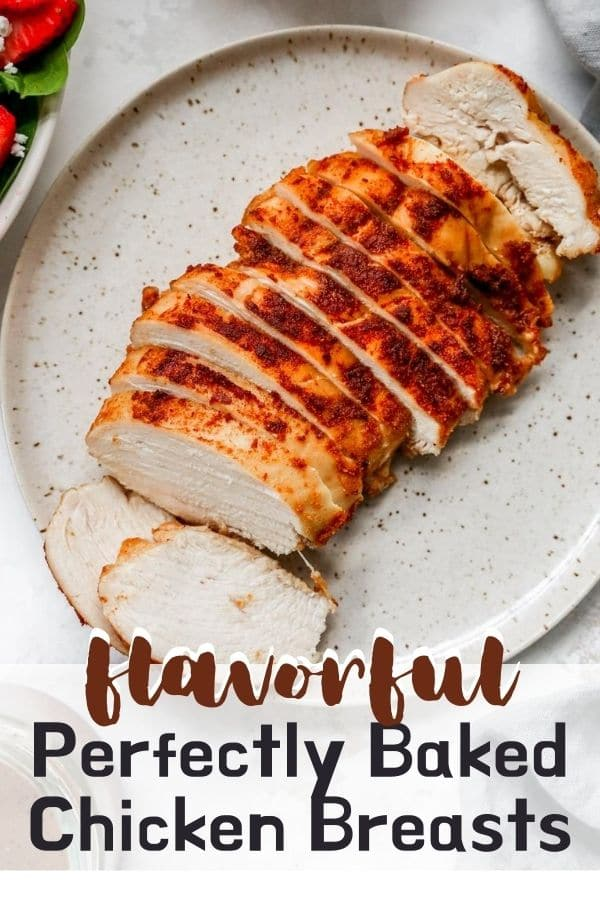 sliced baked chicken on a plate
