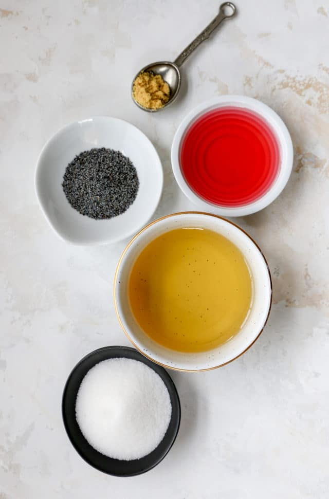 ingredients for poppy seed dressing