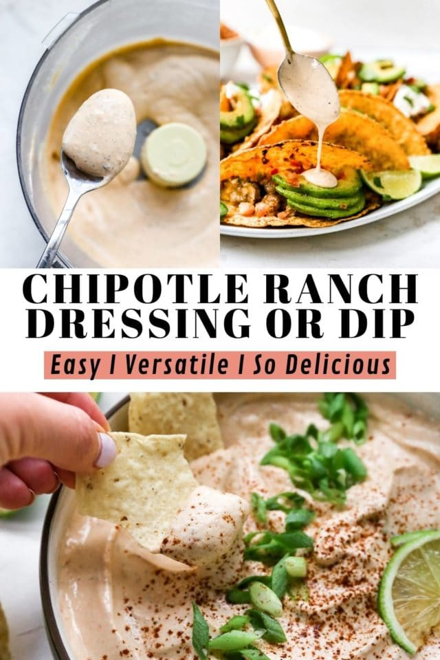 how to make Easy Chipotle Ranch Dressing or Dip