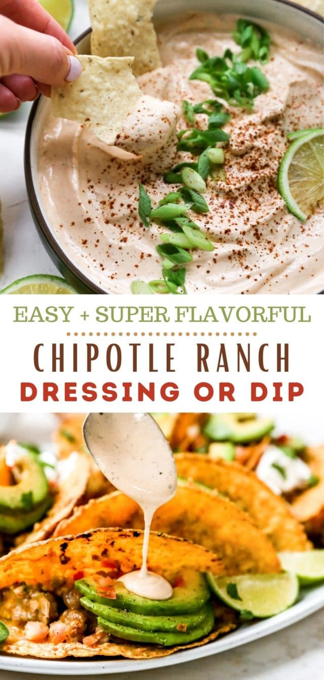 Easy Chipotle Ranch Dressing or Dip