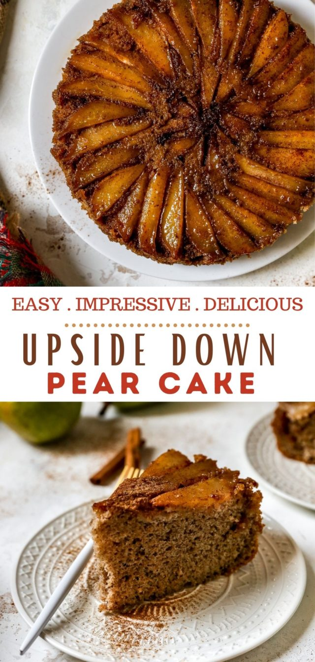 recipe for Upside Down Pear Cake