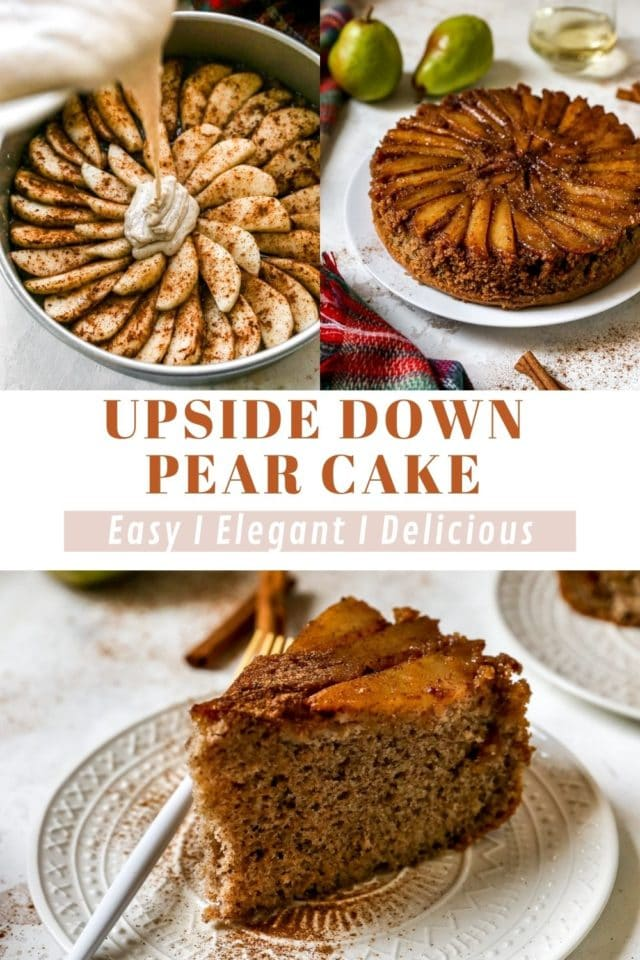 instructions for making Upside Down Pear Cake