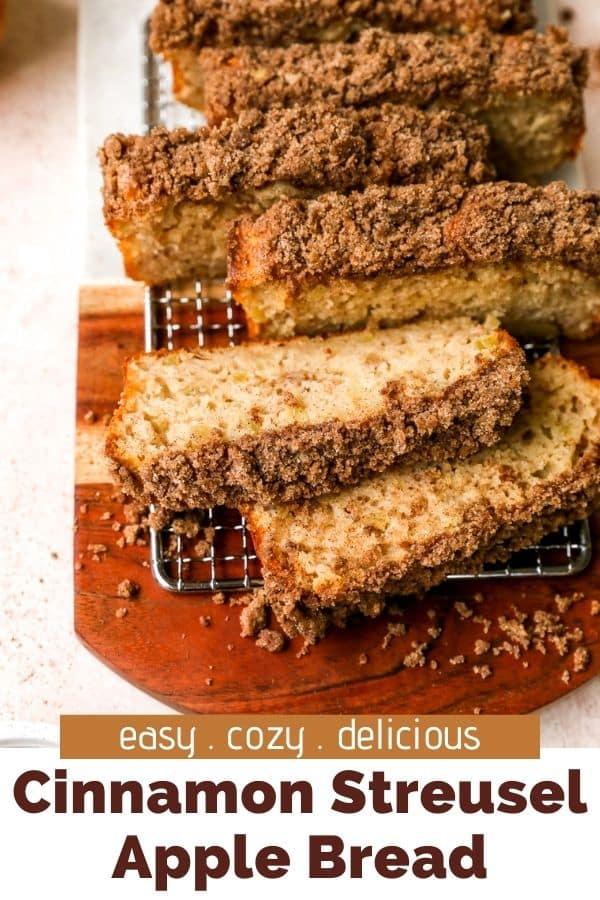 Cinnamon Streusel Apple Bread