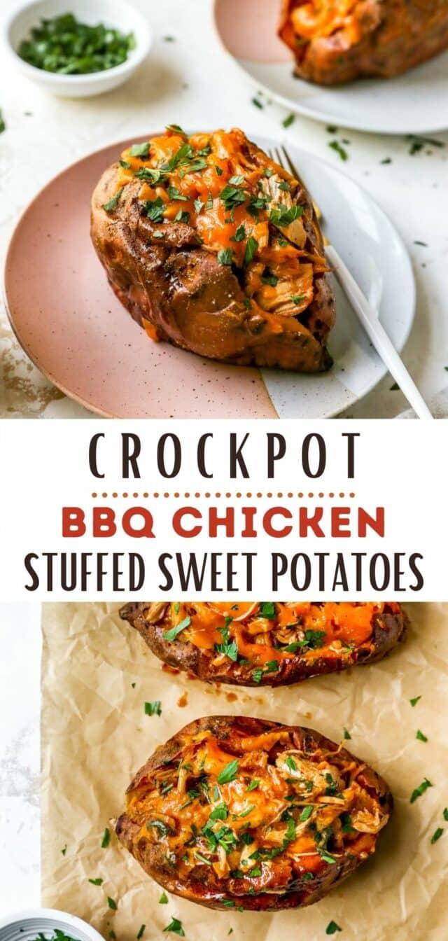 how to make Crockpot BBQ Chicken Stuffed Sweet Potatoes
