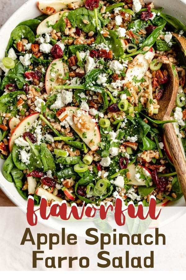 Apple Spinach Farro Salad