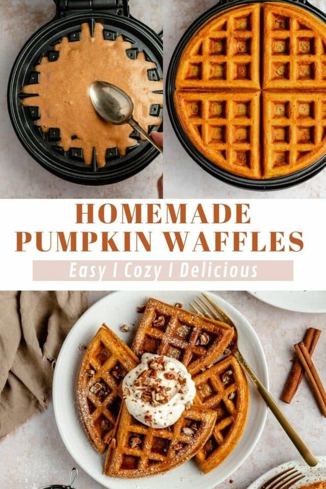 homemade pumpkin waffle recipe
