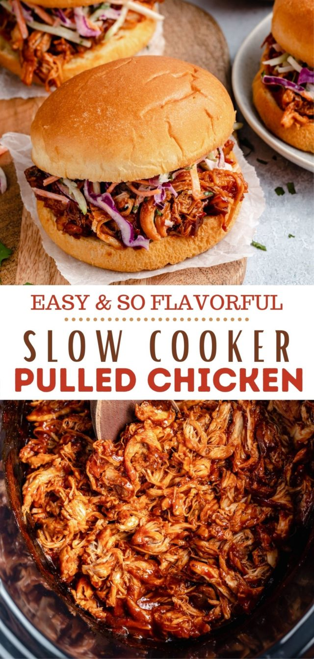 recipe for slow cooker pulled chicken